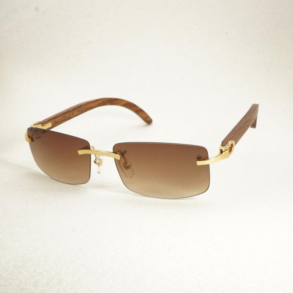 de675b817523 Vintage Rimless Sunglasses Wood Red Sunglass Men Luxury Eyewear Mens Carter  Eyeglasses For Driving Traveling Accessories
