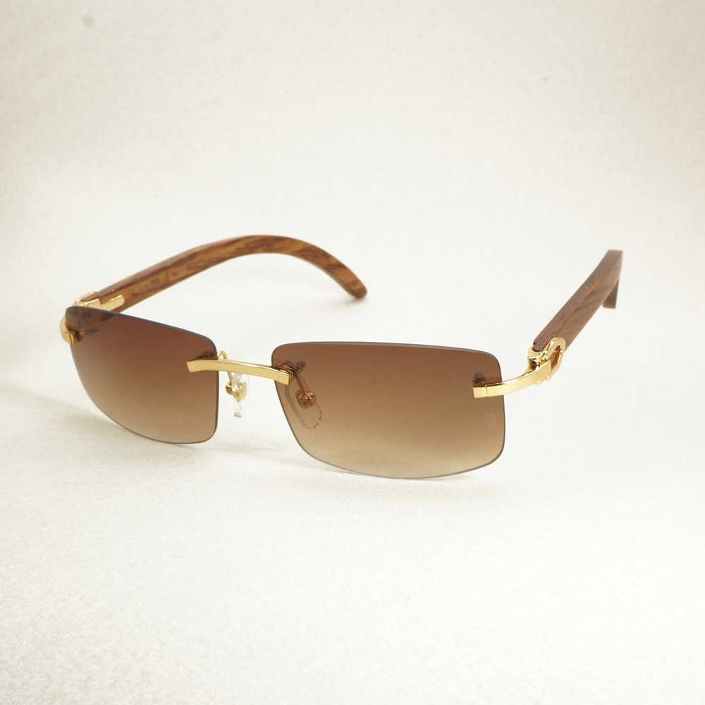 Vintage lunettes de soleil sans monture Bois Rouge Lunettes De Soleil Hommes De Luxe Lunettes Hommes Carter Lunettes Pour Conduite Accessoires De Voyage Nuances