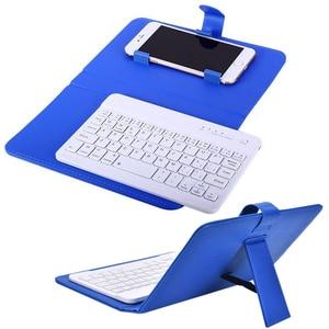 Image 4 - Przenośna, skórzana, bezprzewodowa obudowa na klawiaturę dla iPhone ochronny telefon komórkowy z klawiaturą Bluetooth dla IPhone 6 7 Smartphone