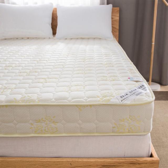 New Style 10cm 6cm High Rebound Memory Foam Mattress Classic Design White Blue