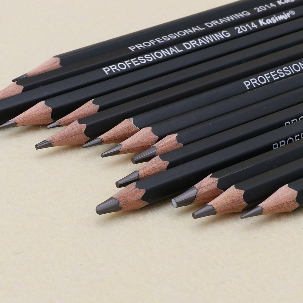 Us 2 99 25 off14 pcs graphite pencil art drawing sketch 12b 10b 8b 7b 6b 5b 4b 3b 2b 1b hb 2h pencils painting supplies in paint by number from