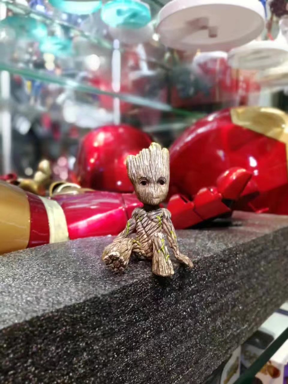 Anime Figure Guardians of The Galaxy 2 Tree Man Baby Sitting Ver Collectible Model Toys Brinqued
