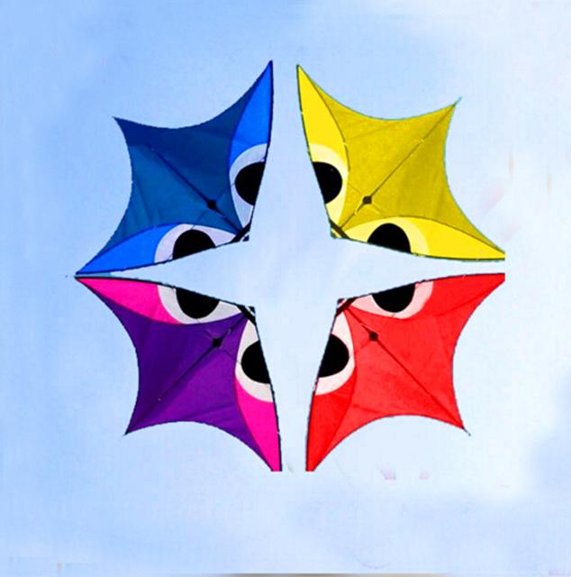 Envío de la alta calidad 4 m ciudad elf kite kite con línea de varios colores eligen grande águila cometa ripstop tela de nylon kite