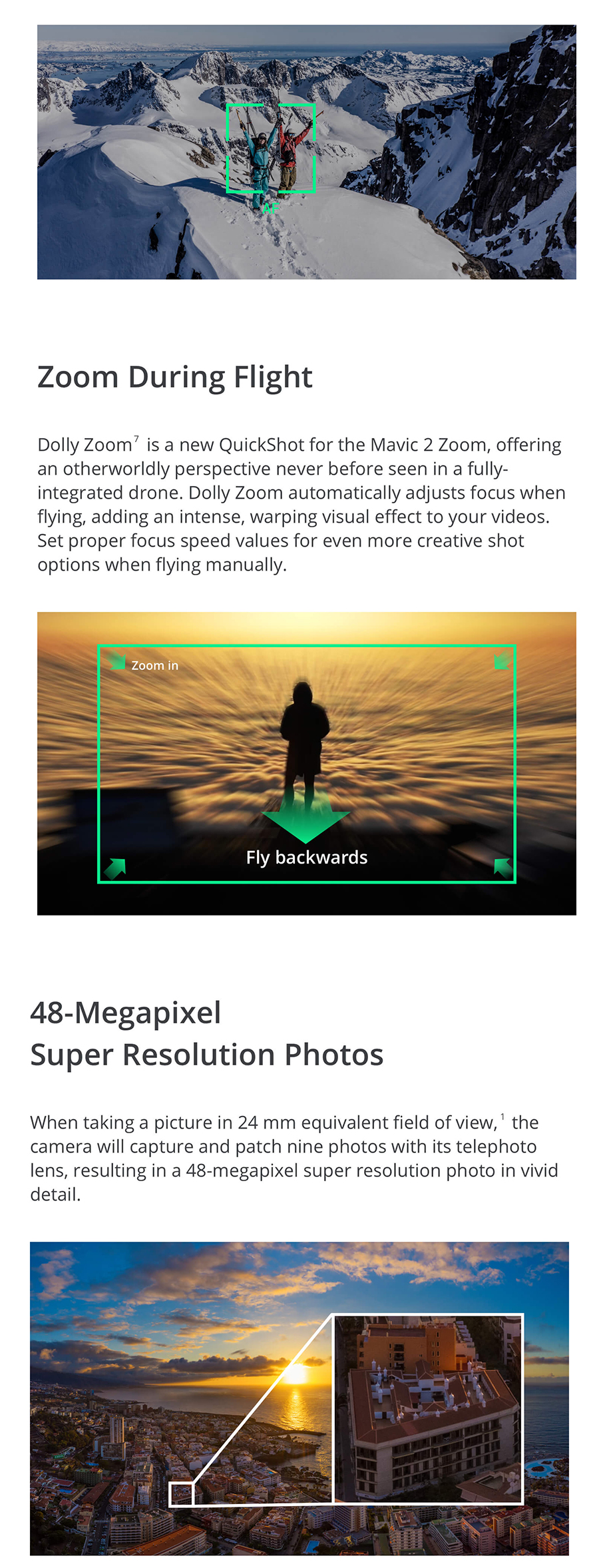 DJI Mavic 2 Zoom Drone,2x Optical Zoom 4x Lossless FHD Video 48MP Super  Resolution Photos 31Mins Flight Time 8km Remote Control