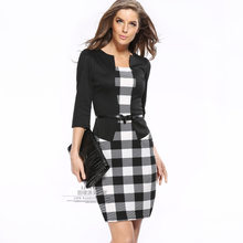 2019 Spring and Autumn Period New Dress Fake Two-piece Temperament Slim Fit Seven-quarter Sleeve Belt(China)