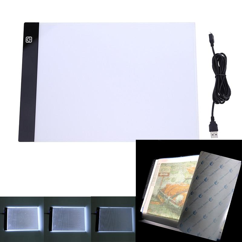 A4/a5 tamanho três nível regulável led almofada clara, tablet proteção para os olhos mais fácil para ferramentas de pintura diamante acessórios caixa de armazenamento
