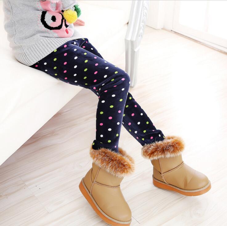 VEENIBEAR Autumn Winter Girls Pants Velvet Thicken Warm Girls Leggings Kids Children Pants Girls Clothing For Winter 2-7T 6