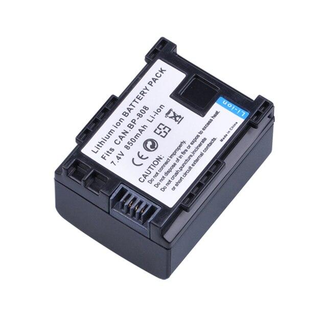 1 adet BP-808 BP808 BP 808 Pil + LCD Hızlı Şarj Topu BP-808 BP808 BP-809 BP819 BP827 FS300 FS100 XA10 VIXIA HG20 HG21