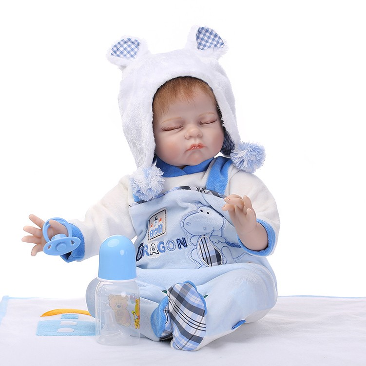 NPKCOLLECTION reborn baby doll soft real touch 22inch sleeping baby doll lifelike kids birthday gift кукла 44271926101 usa berenguer reborn baby doll