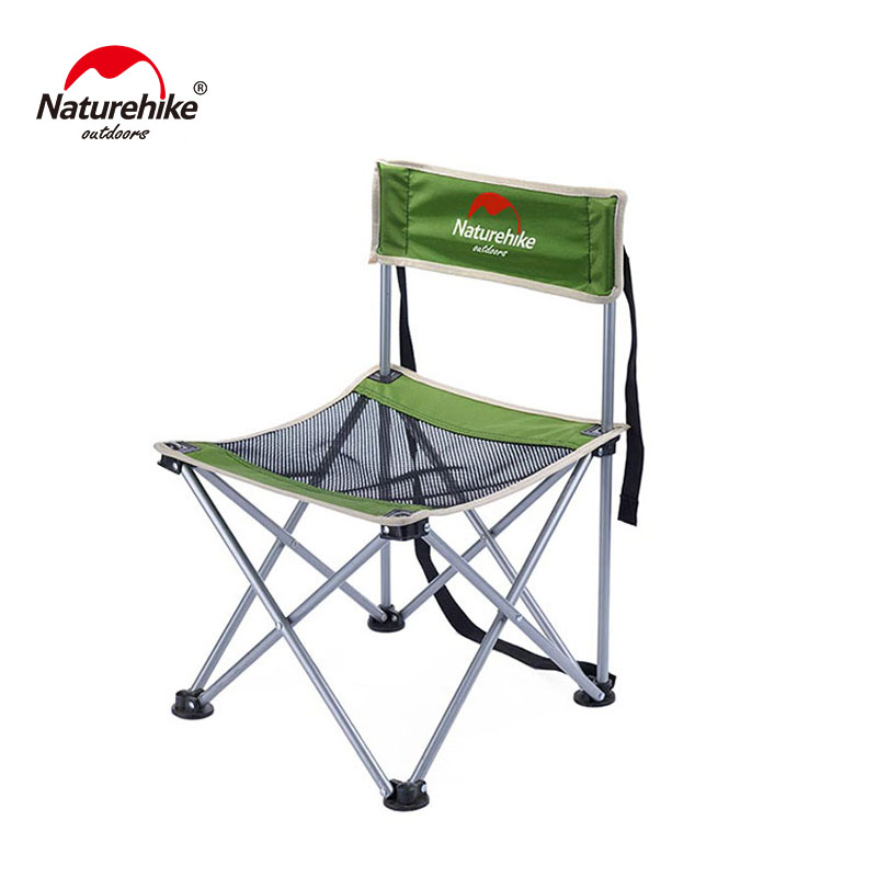 Naturehike Foldable Camping Chair Portable Outdoor Fishing Beach Small Campstool NH16J001-J