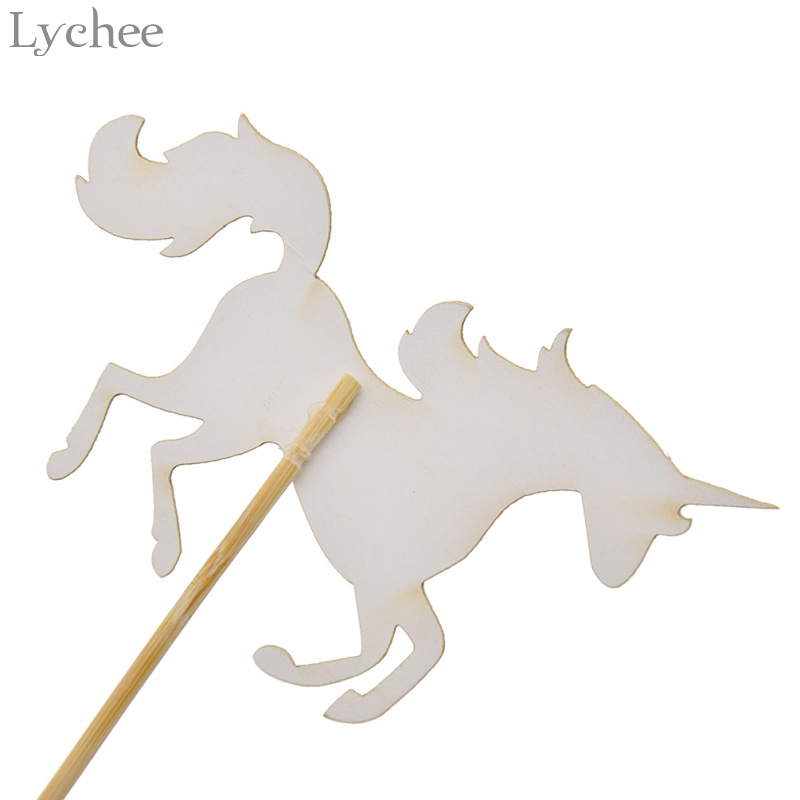 Lychee 5pcs Glitter Unicorn Horse Wedding Cake Topper Baby Shower Birthday Party Dessert Decoration Supplies In Decorating From Home Garden