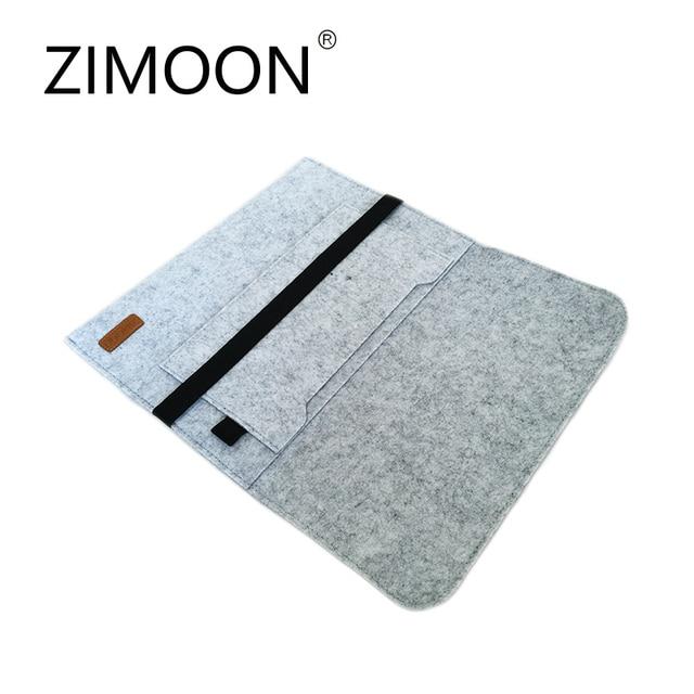 "Zimoon Felt Laptop Sleeve Bag Notebook Case Computer Smart Cover Handbag For 11"" 13"" 15"" Macbook Air Pro Retina 1"