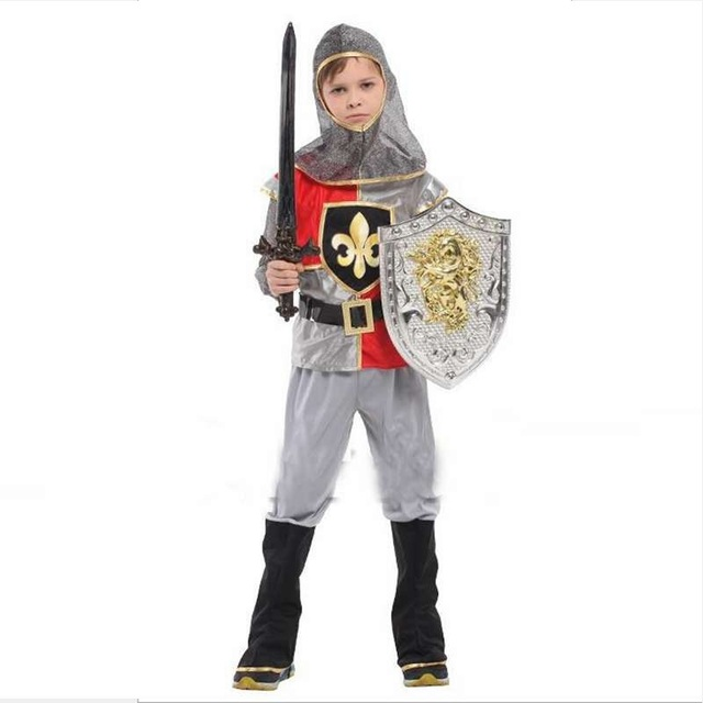 Boy Costumes Performance Clothing Royal King Little Soldier Warrior Prince Cosplay Halloween Costumes