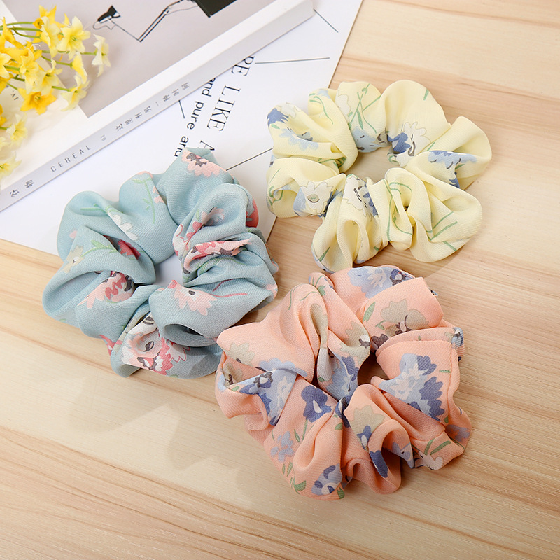 2018 New High Quality Women Elastic Hair Ropes Flower Hair bands Cloth Headbands Ponytail Holde Hairband Girls Hair Accessories
