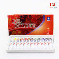 Professional Brand Oil Paint Canvas Pigment Art Supplies Acrylic Paints Each Tube Drawing 12 ML 12