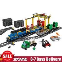2018 In Stock DHL Lepin 02008 959Pcs Cargo Train Set Genuine City Series 60052 Building Blocks