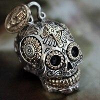 Good Vibrations genuine925 серебряный череп кулон Цепочки и ожерелья стерлингового серебра Европейской Мужской Ретро Личность