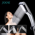JOOE 300 Holes Water Saving Shower Head Square ABS With Chrome Hand Held Bath Shower Bathroom accessories Chuveiro Douchekop