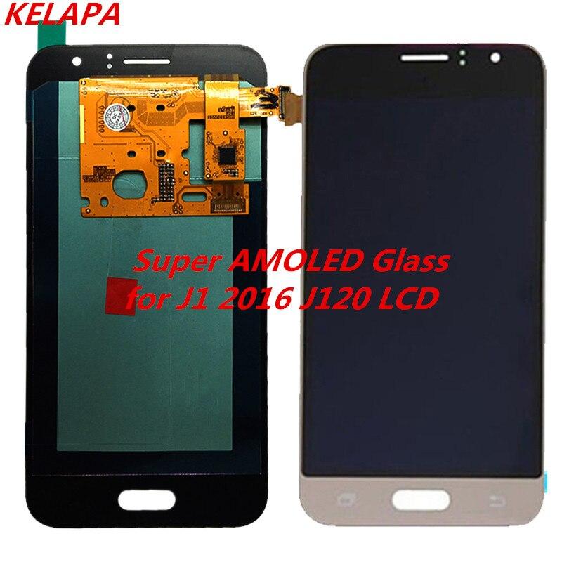 Super AMOLED LCD pour Samsung Galaxy J120 J120M J120F J1 2016 LCD écran numériseur assemblée