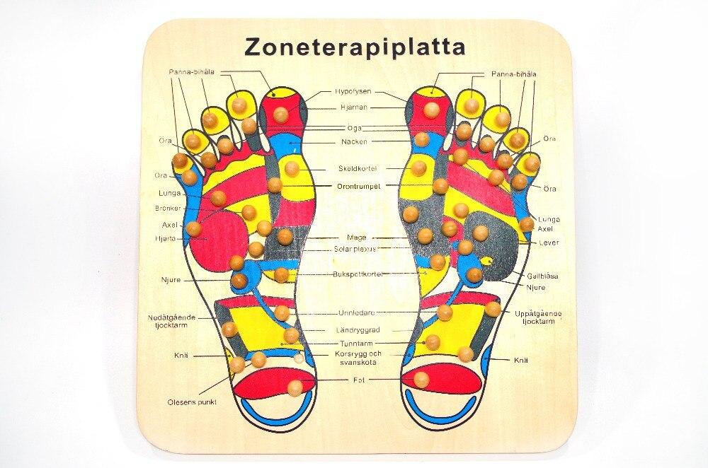 Perfect Wood Foot Massage Pad Point Stimulation Health ...