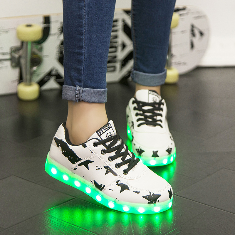 Luminous sneakers Led med Light Up Led Slipper EUR Størrelse 30-45 Chaussure Enfant Børns Sko med Lys op Glødende Sneakers