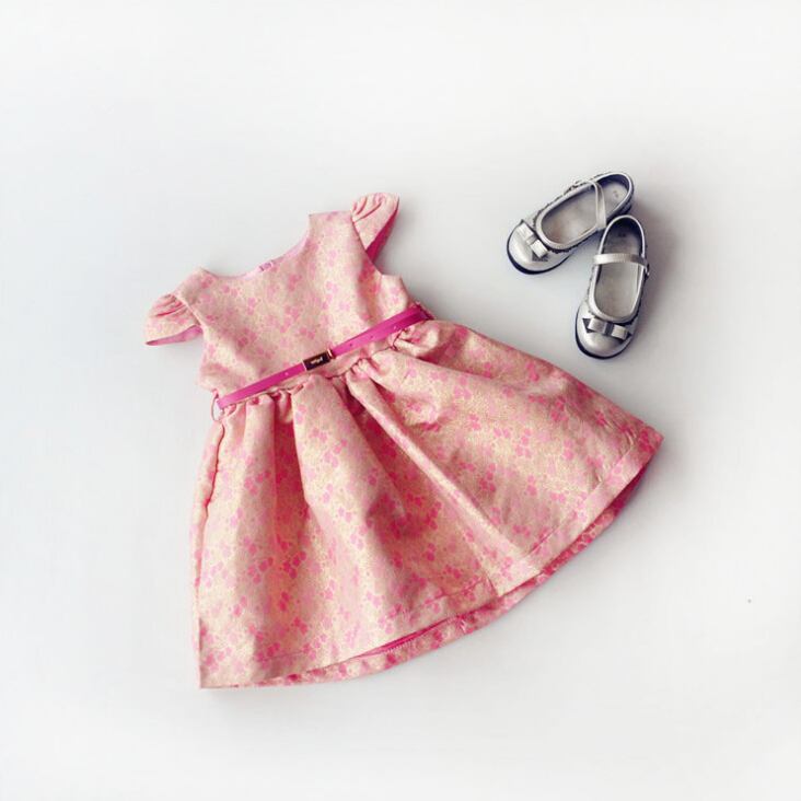 Fahion 2015 Spring Autumn Girls Dresses Luxury Baby Clothes Dress