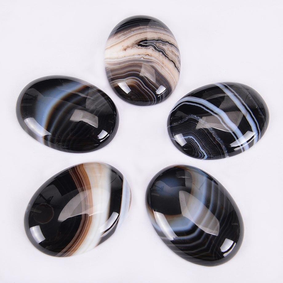 Natürliche Stein Schwarzen Adern Achate Cabochon Perle für DIY Ring Anhänger Ohrringe Schmuck Zubehör Flatback Streifen Perlen J022|Perlen|   - AliExpress
