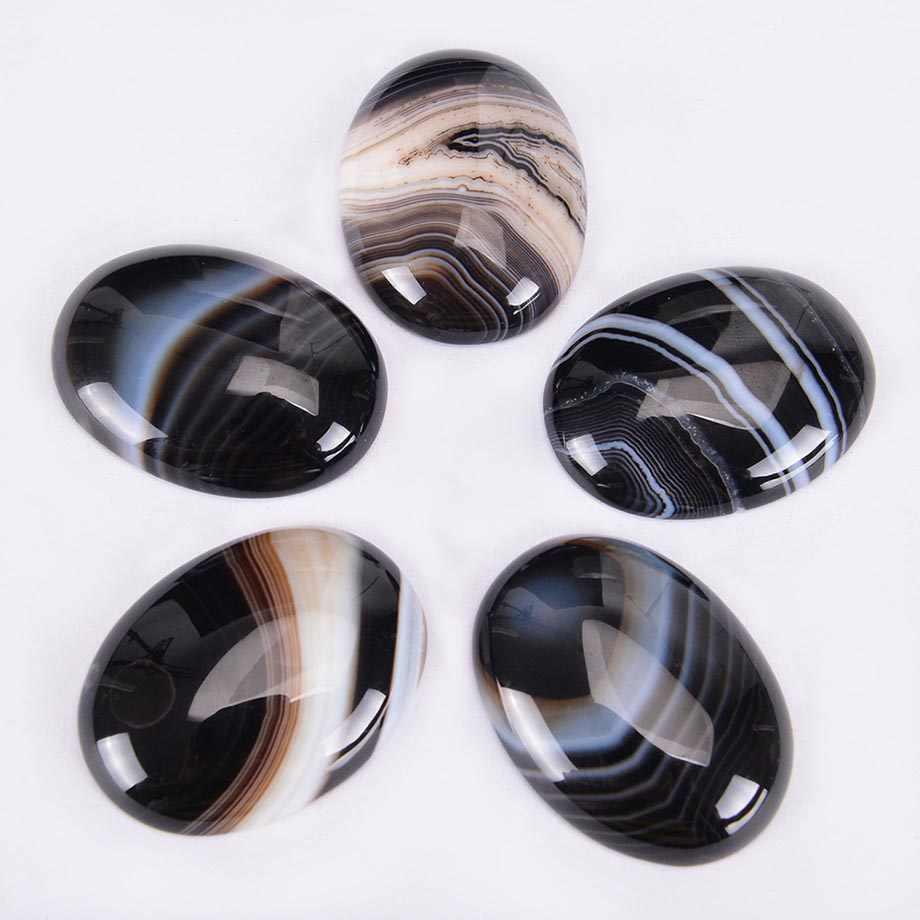 Natural de pedra preto veias ágata cabochão grânulo para diy anel pingente brincos jóias acessórios flatback tarja contas j022