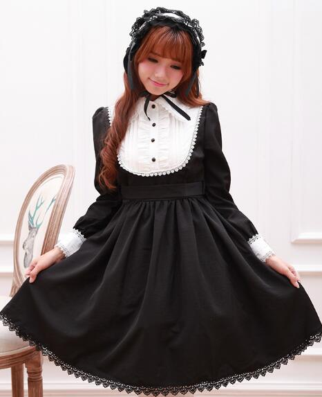 Lolita font b blouse b font autumn and winter posed palace restoring ancient ways off two