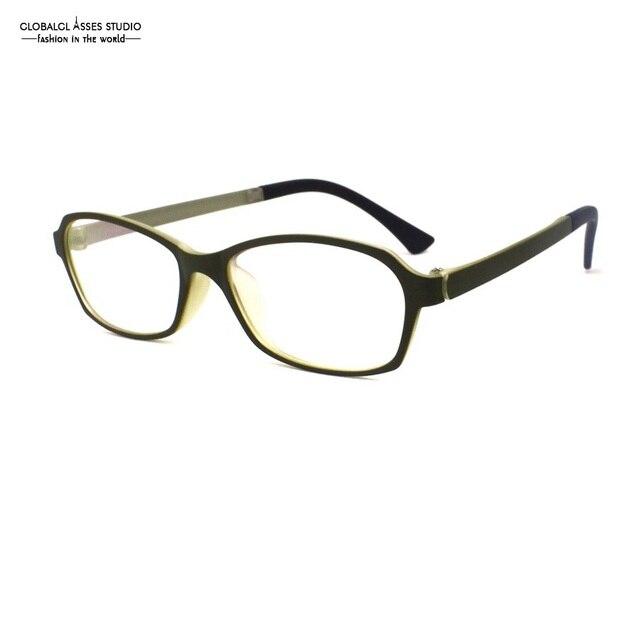 e2e8679e8f1 Big Lens Smooth Feeling Plastic Titanium Frame Men Dark Green Nerd Eyewear  Super Light Prescription Eyeglasses MSL01