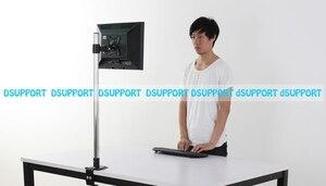 Image 4 - Süper yüksek masaüstü Sit Stand 17 27 inç monitör tutucu paslanmaz çelik TV askısı standı sütun yükseklik 90cm yükleme 10kgs