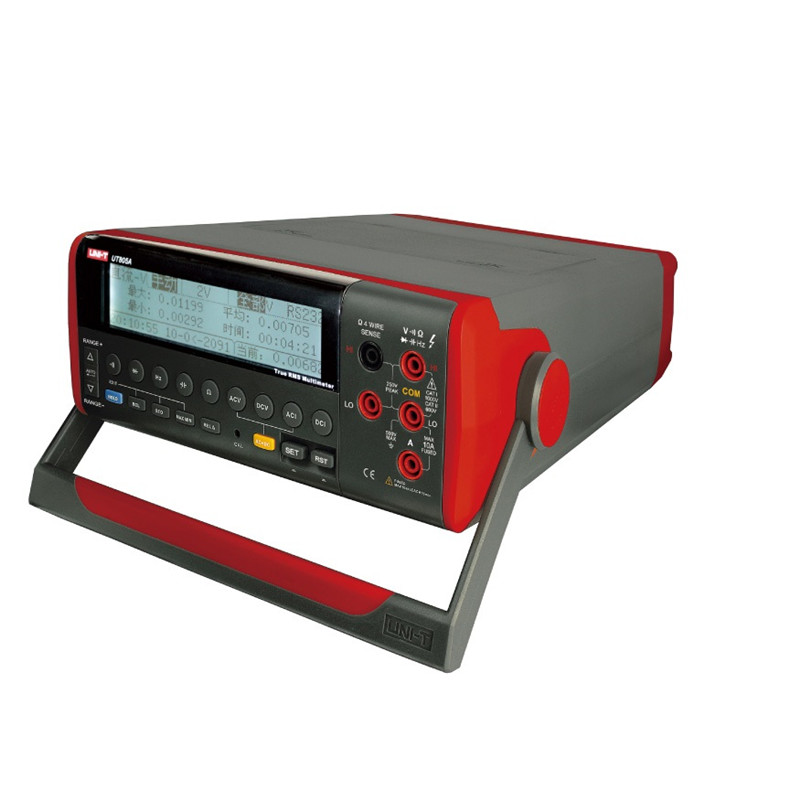 UNI-T UT805A 199999 Counts High-Accuracy Ture RMS LCD Bench Top Digital Multimeter Volt Amp Ohm Capacitance Hz Tester цена