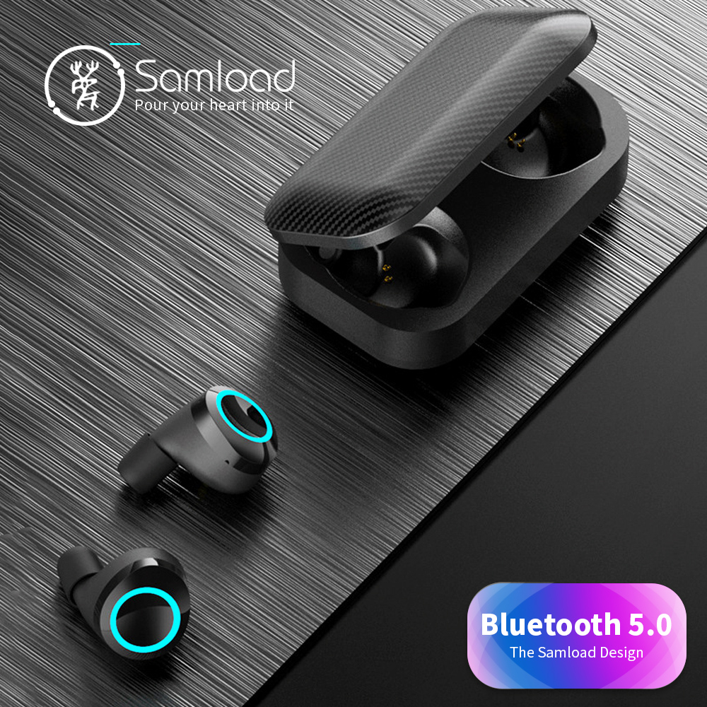Wireless Headphones Bluetooth 5.0 Earbuds Deep Bass Sound Headset Built-In Mic With Charging Box For IOS Android Phone