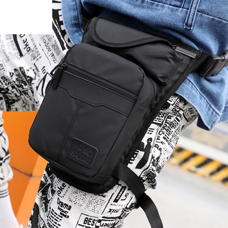 Motorcycle Riding Hip Belt Waist Fanny Pack Travel Shoulder Messenger Cross Body Bags High Quality Nylon Men Thigh Drop Leg Bag