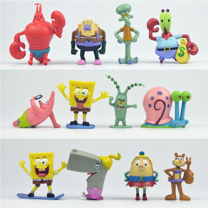 6 stücke 8 stücke 12 stücke Cartoon Spongebob Abbildung Puppen ...