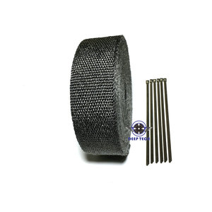 Image 2 - 10M * 2inch  Black Exhaust Heat Wrap Downpipe Engine Bay Exhaust Shields Motorcycle Exhaust Pipe Wrap Header