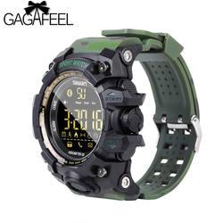 GAGAFEEL EX16S Bluetooth умные спортивные часы IP67 Водонепроницаемый Смарт-часы с шагомером будильник, часы, секундомер долгого ожидания наручные часы