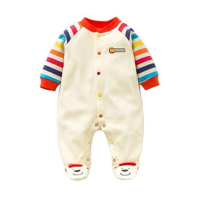 2017 Lente Herfst Baby Romper 100% Katoen Pasgeboren Kleren Lange Mouw Baby Meisje Kleding Cartoon Jumpsuit Baby Kleding
