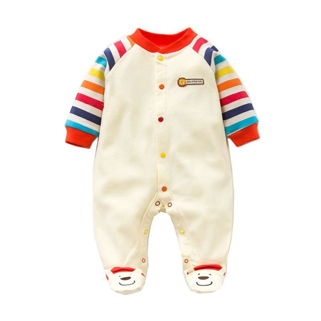 2017 Spring Autumn Baby Romper 100% Cotton Newborn Baby Clothes Long Sleeve Baby Girl Clothing Cartoon Jumpsuit Infant Clothes