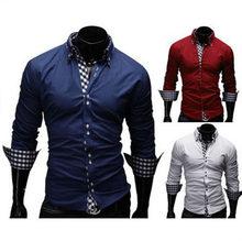 27ca0e4dcc Camisas Hombre vestir Camisas de traje hombre camisa slim fit chemise Homme  hombres camisa celosía decorativa