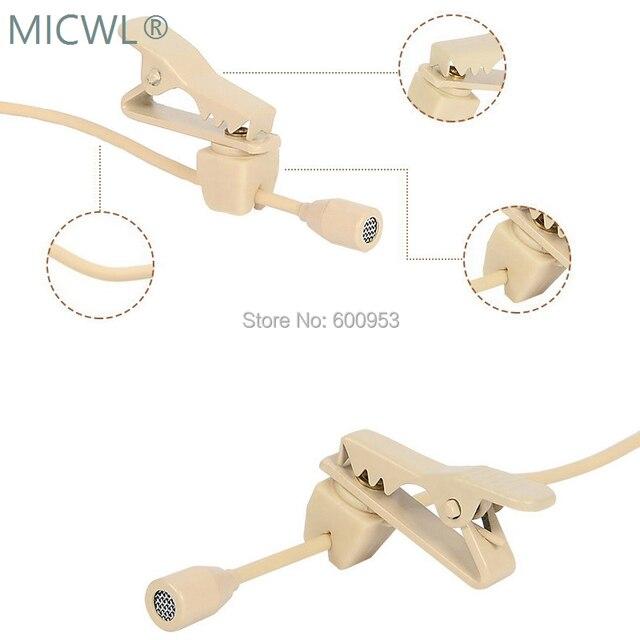 Micro micro cravate omnidirectionnel Beige de haute qualité micro micro pour Shure Audio Technica Sennheise MiPro système sans fil
