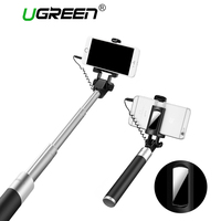 Ugreen Selfie Stick With Button Wired Monopod Universal For IPhone 6 5 S Android Samsung Huawei