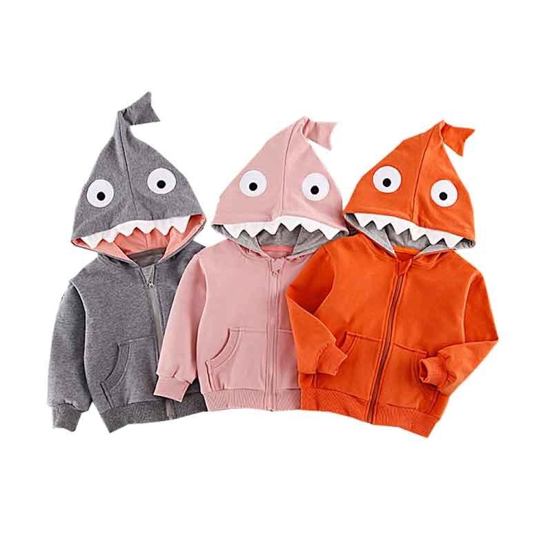 Vornehm Baby Sweatshirt Kleinkind Kinder Jungen Shark Muster Mit Kapuze Tops Hoodie-jacken-mantel Oberbekleidung Casual 1-4 T Mädchen Kleidung Jacken & Mäntel