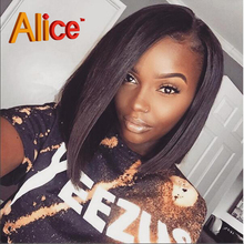 Alice 8A Lace Front Human Hair Wigs Brazilian Virgin Hair Full Lace Human Hair Wigs With Baby Hair Short Human Hair Lace Wigs