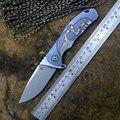 CH3504 S35VN hoja de cuchillo plegable Bola de cerámica de la arandela de rodamiento TC4 titanium mango azul o bronce caza al aire libre cuchillo de supervivencia