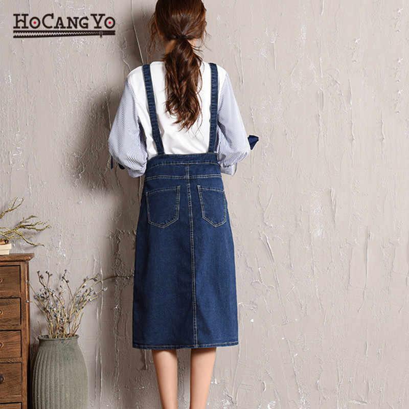 HCYO плюс размер 5XL женское джинсовое платье весна осень Спагетти ремень платья женские свободные повседневные длинные джинсовые сарафаны комбинезоны платье