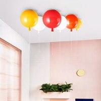 IWHD современный светодиодный потолок светильники моды Цвет шар потолочные светильники для Гостиная Спальня Luminaria оргстекло Avize