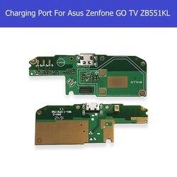 Oryginalna ładowarka USB port PCB dla Asus ZenFone GO TV ZB551KL X013D ładowanie i Micro Dock Jack port płyta z mikrofonem