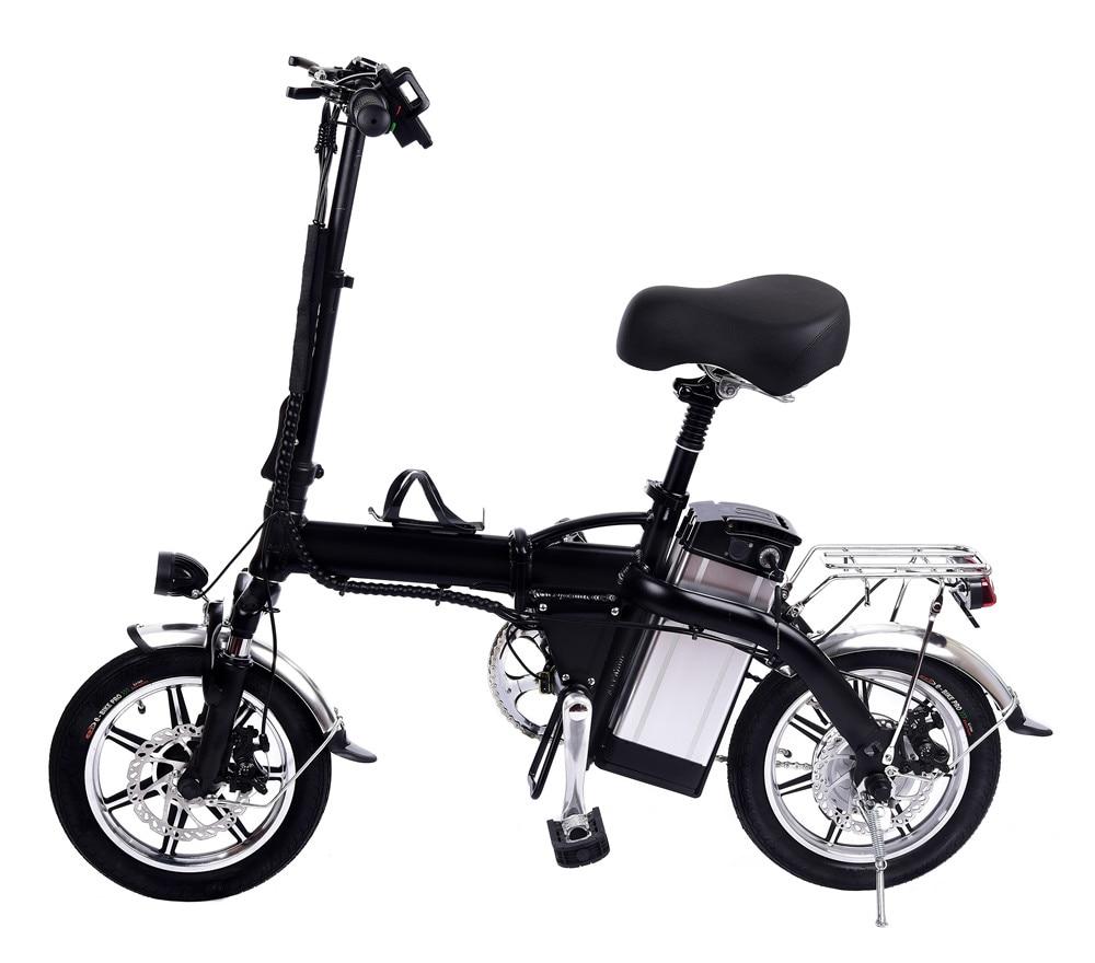 14 inch Lithium-Batterie Elektrische Fahrrad 48V10AH Reine Elektrische Ausdauer Schwarz