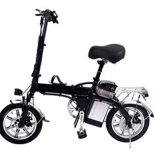 14 inch Lithium Battery Electric Bicycle 48V10AH Pure Electric Endurance Black